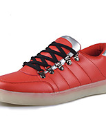 Men's Sneakers Spring / Fall Comfort Tulle Athletic / Casual Platform LED / Lace-up Blue / Red Sneaker