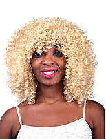 Fashion Women's Glueless Blonde Curly Short Hair Wig for African American