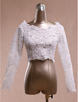 Women's Wrap Shrugs Long Sleeve Lace Ivory Wedding / Party/Evening Lace