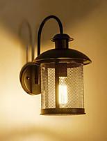 AC 100-240 40W E26/E27 Rustico Pittura caratteristica for LED,Luce ambient Lampade a candela da parete Luce a muro