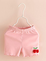 Baby Kids Girl Candy Colors Cotton Leggings with Cherry Trousers Toddler Pant