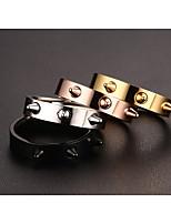 Ms Personality Rivet Titanium Steel Ring