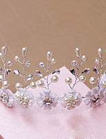 Women's Rhinestone / Brass / Imitation Pearl Headpiece-Wedding / Special Occasion / Outdoor Tiaras 1 Piece