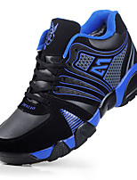 Men's Spring / Summer / Fall Comfort PU Casual Flat Heel Blue / Red Sneaker