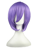 LuckyStar-Hiiragi Tsukasa Light Purple 14incg Anime Cosplay Wig CS-001E