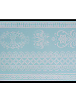 Lovely HENNA Lace Big White Face Sticker 03