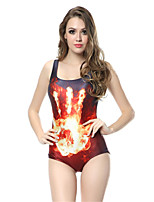 Gorgeous Color  Flame Palm Fringe Pattern Collection Digital Print Swimsuit