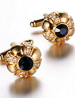 Men's Fashion Gold Alloy French Shirt Cufflinks (1-Pair)