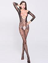 Women's Net Jacquard Hollow Out Ultra Sexy Nightwear,Nylon