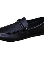 Черный Коричневый Белый Бордовый-Мужской-Повседневный-Дерматин-На плоской подошве-Удобная обувь Мокасины-Мокасины и Свитер