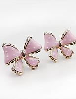 Cute Sweet Style Wave Bow Lady Earrings