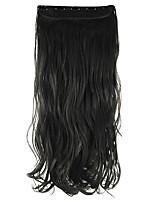 cabelo sintético preto 60 centímetros alta hemperature extensão do cabelo fio peruca comprimento