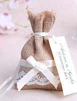 Bolsos de regalos(Yute,Yute) -Tema Jardín / Tema Clásico-Matrimonio / Aniversario / Despedida de Soltera