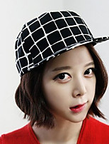 Unisex Cotton Vintage Casual Spring Summer Baseball Grid Hat
