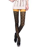 Women's 90D sleek carved velvet Jacquard pantyhose