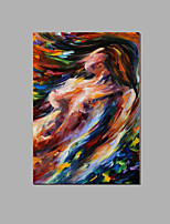 Abstract Nude Lady Wall Art Home Hotel Decor Handpainted oil Painting Ready To Hang With Frame
