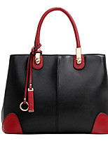 Women-Formal / Casual / Office & Career / Shopping-PU-Tote-Beige / Blue / Gold / Brown / Red / Black