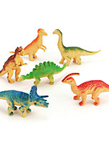 Jurassic Dinosaur Solid Simulation Wild Animal Model Set Decoration Static Resin Children Toys 6Pcs