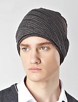 Unisex Cotton Warm Fashion Pure Color Wool Knit Caps
