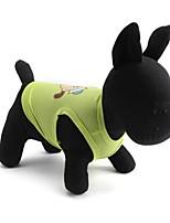 Gatos / Cães Camiseta Verde / Rosa Verão / Primavera/Outono Floral / Botânico Da Moda, Dog Clothes / Dog Clothing-Pething®