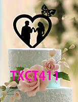 Cake Topper Non-personalized Classic Couple Acrylic Wedding Black Classic Theme 1 OPP