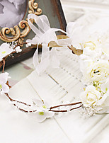 Capacete Grinaldas Casamento / Ocasião Especial / Casual / Ao ar Livre Tecido Mulheres Casamento / Ocasião Especial / Casual / Ao ar Livre