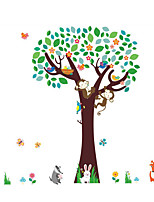 Wall Stickers Wall Decals Style Forest Cute Monkey Tree PVC Wall Stickers