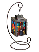 Stained Glass, Wrought Iron Candlestick The Wedding Festival Gifts Decoration
