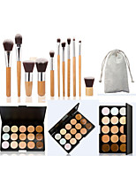 New 15 Colors Concealer Contour Palette Kit With Brush Face Makeup Cream