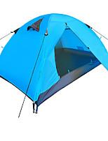 Tenda-Impermeabile / Traspirabilità / Anti-polvere / Anti-vento / Tenere al caldo-2 persone-Blu / Arancione