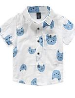 Boy's Cotton Shirt,Summer Print