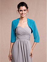 Wedding / Party/Evening Chiffon Shrugs 3/4-Length Sleeve Women's Wrap