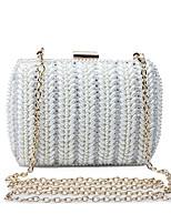L.WEST Women's Handmade The Diamond Pearl Evening Bag