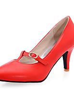Women's Shoes  Stiletto Heel Pointed Toe Heels Casual Black / Red / Beige