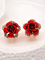 High-Grade Diamond Earrings Rose