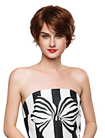 Charming Trendy Woman's Short Stylish Remy Human Hair Hand Tied Top Emmor Wigs