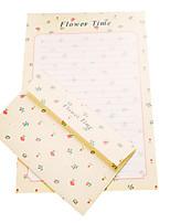 fresca carta de amor romántico de la letra 6 3 sobre (patrón aleatorio, 17.5 * 11cm sobre, carta de 18.6 * 26cm)