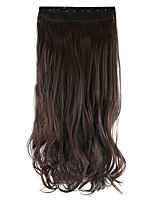 longitud 60 cm de altura color chocolate Hemperature la extensión del pelo peluca de pelo sintético de alambre