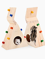 Hamster house Can rock climbing Wooden toys sports leisure Small pet cage