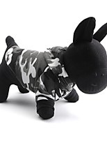 Chat / Chien Pulls à capuche / T-shirt Gris Printemps/Automne camouflage Mode-Pething®, Dog Clothes / Dog Clothing