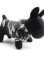 Gatos / Cães Camisola com Capuz / Camiseta / Roupa / vestuário Cinzento Primavera/Outono camuflagem Da Moda-Pething®