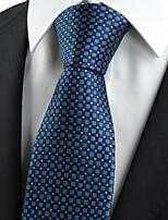 KissTies Men's Navy Blue Tie Wedding/Party/Work/Casual Necktie With Gift Box