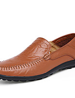 Men's Shoes EU38-EU47 Office & Career/Party & Evening/Casual/Drive Fashion Slip-on Nppa Leather Shoes