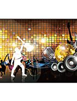 effet cuir shinny grand papier mural papier peint décoration murale art ktv carrés brillants d'or