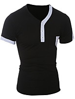 2016 New Fashion Brand Men's Tshirt Casual Slim Fit Short Sleeve T Shirt Men Cotton T-Shirts Plus Size 5xl Black/White