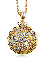 Necklace Pendant Necklaces Jewelry White / Coppery Wedding / Party / Daily / Casual / N/A Round Shape 1pc Gift