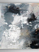 Hand Painted Oil Painting Abstract Black and White with Stretched Frame 7 Wall Arts®