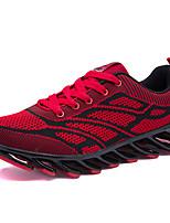 Scarpe da uomo-Sneakers alla moda-Tempo libero / Casual / Sportivo-Tessuto-Nero / Rosso / Arancione