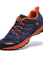 Men's Trail Running Shoes Leather / Tulle Blue / Gray