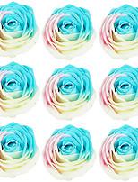 savon nouveauté romantique rose fleur cadeau pour les amateurs de lavage 9pcs / set